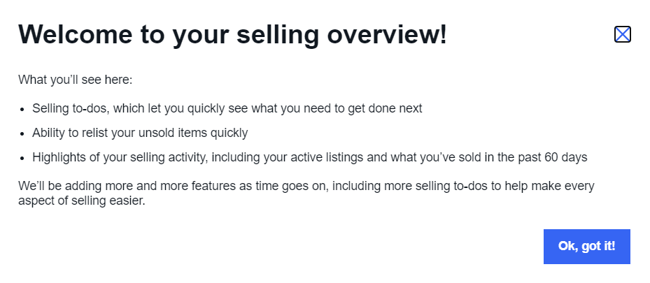eBay selling overview