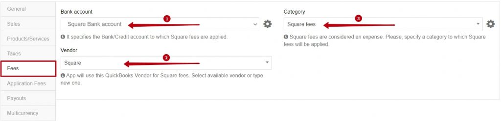 Synder Fees Tab for Square Settings