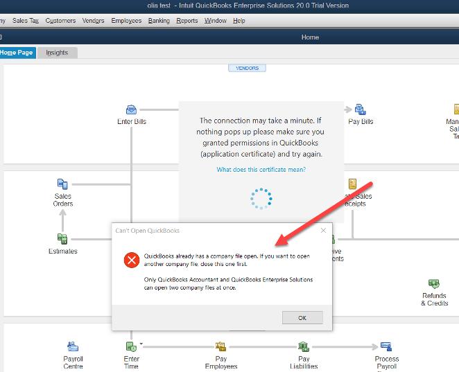 restart your QuickBooks Desktop application