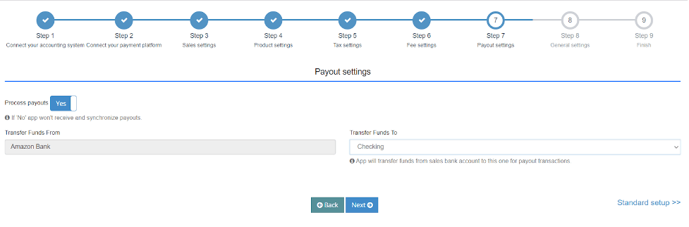 Enable payouts, simplifying the reconciliation process