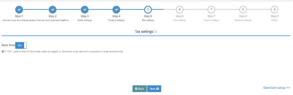 Set up your Tax Settings for Synder Amazon Integration
