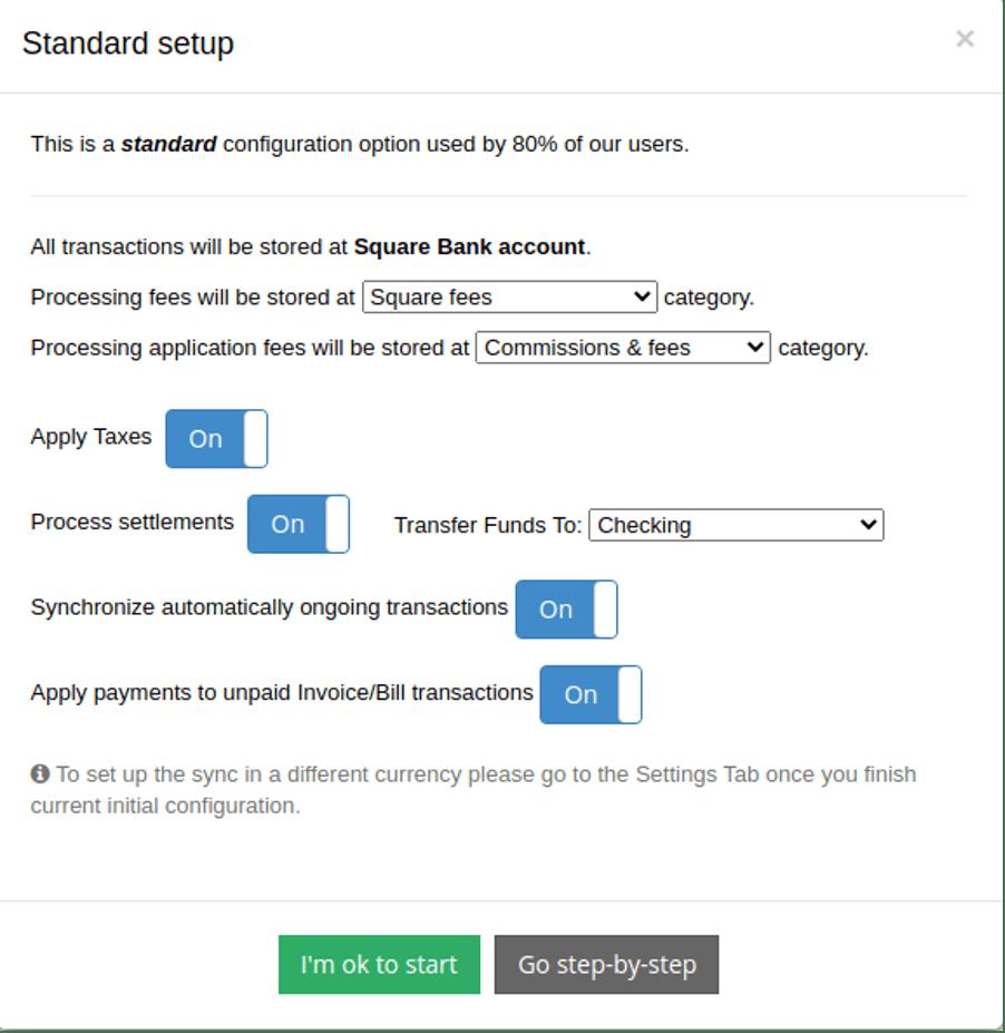 Choose Synder standard setup