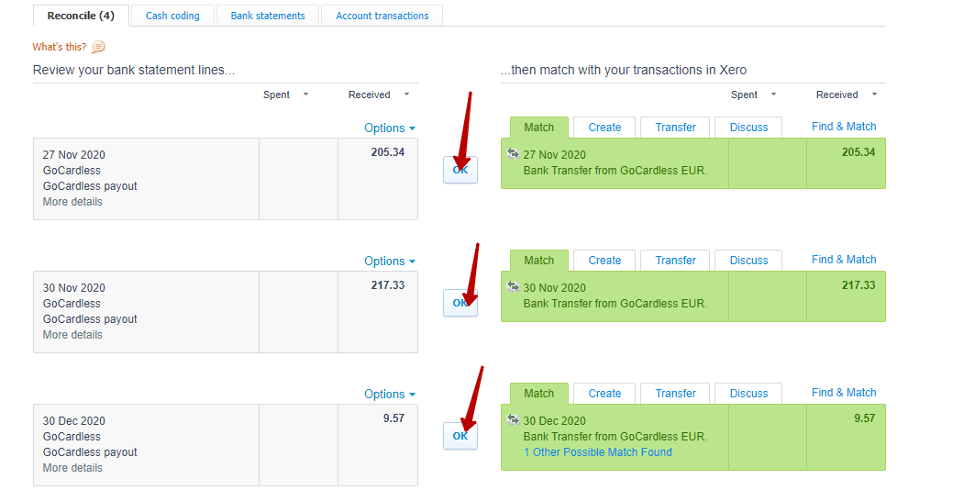 how to find the Checking account in Xero dashboard
