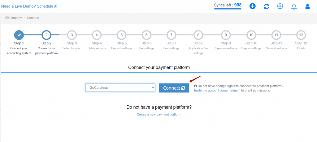 how to connect GoCardless to Synder