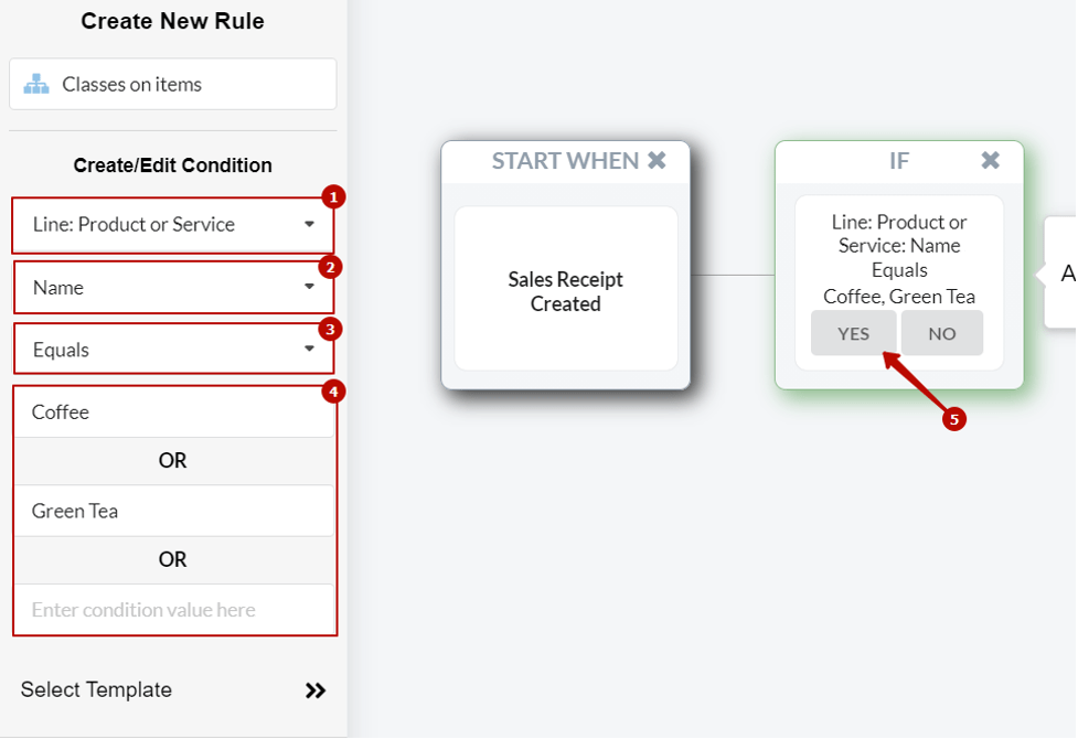 Synder UI - how to create rule