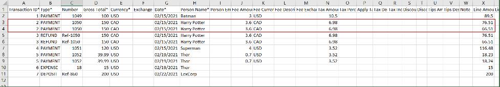 """Exchange rate"" field"