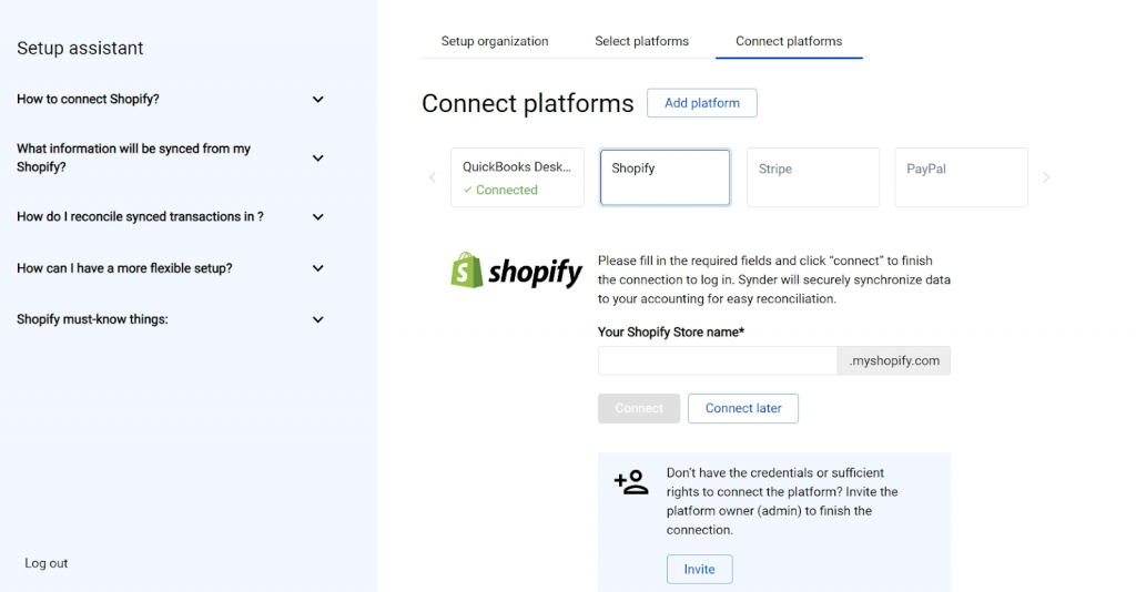Connect your sales platforms to Synder