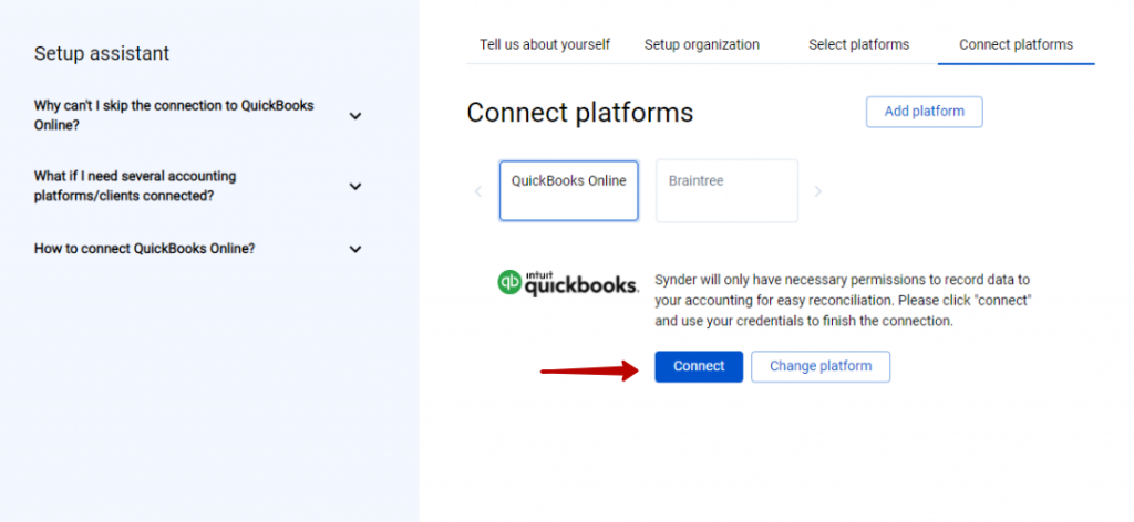Connect your QuickBooks Online or Xero company